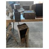 Wood Boxes, Air Rifle Shot Crates, Driftwood Etc