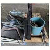 Metal Shelving, Shelf Brackets Etc