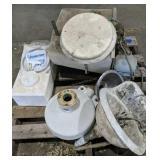 Boat Toilet, Porcelain Sinks Etc