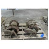 Pair Jh Channon Corp Hand Crank Winches