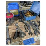 Assorted Wrenches, Spark Plugs Etc