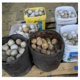 Pallet Of Round Stone Balls