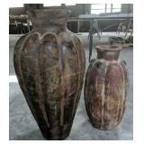 Pair Of Pottery Floor Vases