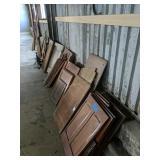 Assortment Of Mahogany Panels, Boat Parts Pieces