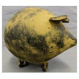 "13.5"" Folk Art Clay Pottery Pig Figurine"