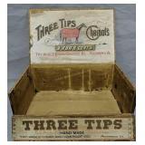 Three Tips Cheroot Cigar Box. Horse, Richmond Va