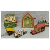 J. Chein Cathedral Organ Tin Litho Toy, Lionel