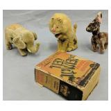 Vintage Key Wind Toys, Frank Buck Ted Towers