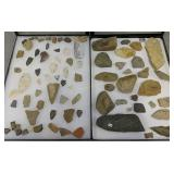 Collection Of Arrowheads And Fragments