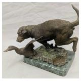 1992 Virginia Ducks Unlimited The Chase Bronze