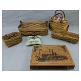 Longaberger Baskets, Wood Box W Steamship