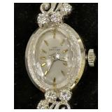 Lady Hamilton 14k Gold Diamond Watch 10.4 Dwt