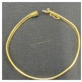 14k Gold 7.25-in Bracelet 5.6 Dwt