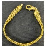 14k Gold 7-in Fancy Braid Bracelet 6.4 Dwt