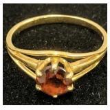14k Gold Garnet Ring 1.2 Dwt