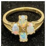 14k Gold Opal Ring 1.3 Dwt