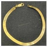"""14k Gold Herringbone 7"""" Bracelet 1.9 Dwt"""