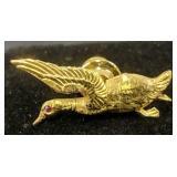 14k Gold Duck Pin Ruby Eye 1.9 Dwt