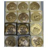 12 Medalic Art Ducks Unlimited Bronze Medallions