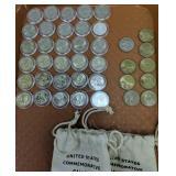 30 State Quarters, 5 Washington $1, 3 Sacagawea