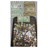Foreign Coins And Bills