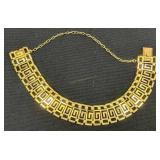 18k Gold Greek Key Link Bracelet 7.2 Dwt