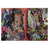 2 Trays Costume Jewelry