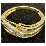 10k Gold Diamond Ring 1.8 Dwt