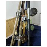 Fishing Rods And Reels. Shakespeare, Penn Etc