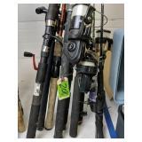 Fishing Rods And Reels. Shakespeare, Okuma,