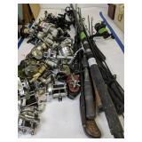 Fishing Rods And Reels. Zebco, Swift, Genesis Etc