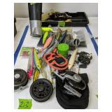 Fly Fishing Reels, Fishing Lures, Arrows Etc