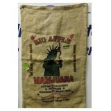 """Big Apple Liberty Marijuana Burlap Sack 36x22"""""""