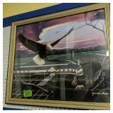 "John-mark Gleadow Signed Eagle Print 22.5x26.5"""