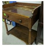 Single Drawer Primitive Wash Stand 26.5x18.5x30 In