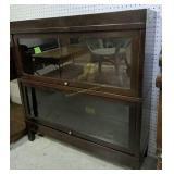 Two Section Globe Wernicke Sectional Bookcase