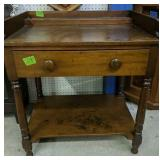 Primitive Single Drawer Wash Stand 28x19.5x32-in
