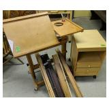 Painters Rolling Easel, Organizer Etc