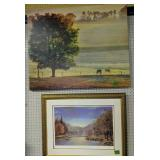 Signed #d Lakeland House By Warden, Horse Print
