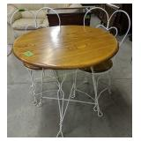 Ice Cream Parlor Table With Chairs