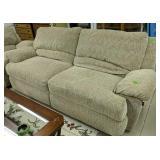Berkline Double Recliner Sofa 94 In Wide