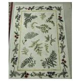 """65x46"""" Cream Color Area Rug With Flowers"""