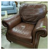 Ethan Allen Leather Chair 42-in Wide