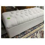 Tufted Upholstered Storage Bench Seat