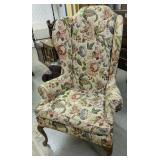 """51"""" Hochschild John Floral Upholstered Wingback"""