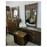 Bassett Campaign Style 3 Piece Partial Bedroom