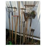Hand Tools. Brakes, Pitchfork, Shovels, Hoe Etc