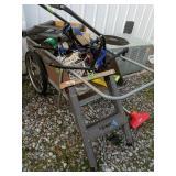 Metal Saw Horses, Yard Cart Etc