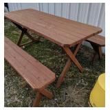 """68 X 26"""" Picnic Table And Benches"""