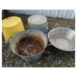 4 Drink Tubs. Galvanized, Stainless Etc